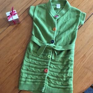 Gymboree 5-6 sweater dress multicolored buttons